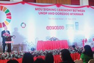 Ooredoo-Myanmar-and-UNDP-Singed-MoU